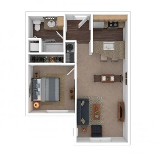 1 Bedroom Floor Plan | Apartments For Rent In Seattle Wa | Vantage Park