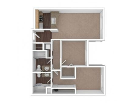 2 Bdrm Floor Plan | Apartments In Seattle Washington | Vantage Park