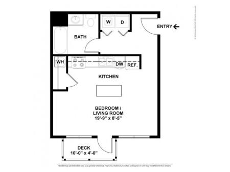 Floor Plan 1 | Luxury Apartments In Beaverton Oregon | Element 170