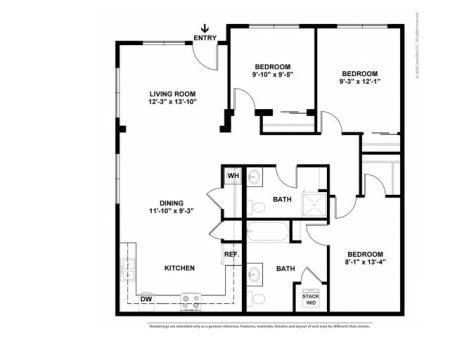 Floor Plan 4 | Portland Oregon Apartments Pet Friendly | Element 170