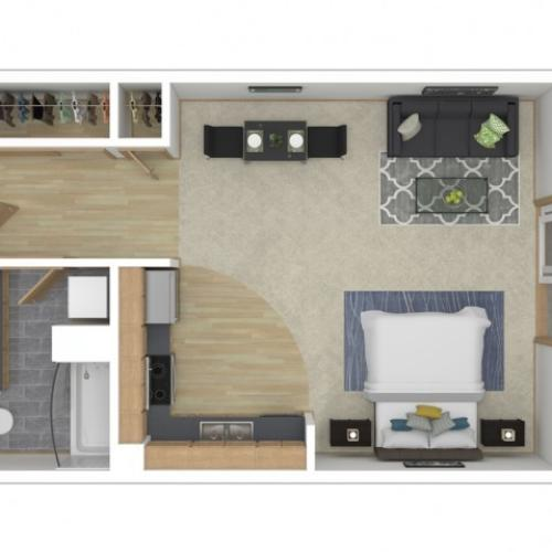 Floor Plan 4 | Seattle Washington Apartments | 700 Broadway Apartments