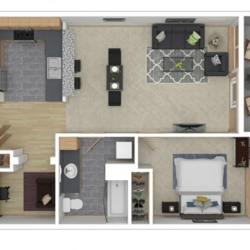 Floor Plan 7 | 2 Bedroom Apartments Seattle | 700 Broadway Apartments
