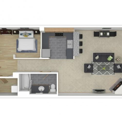 Floor Plan 10 | Apartments For Rent In Seattle Wa | 700 Broadway Apartments