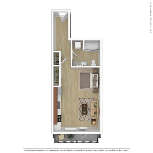 Studio Floor Plan   Apartments For Rent In Portland, OR   Tanner Flats Apartments