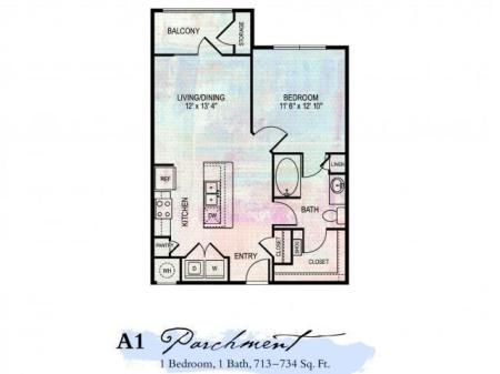 The Artessa Apartments Parchment Floor Plans