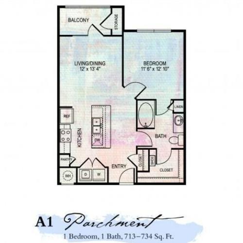 Linen 1 Bed Apartment The Artessa Apartments