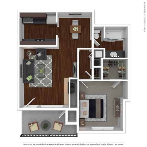 Floor Plan 4 | Apartments For Rent Lake Oswego | One Jefferson