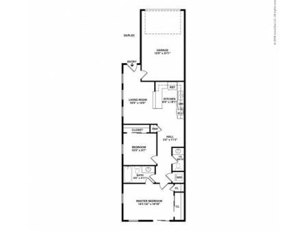 2 Bedroom Floor Plan | Apartments For Rent In Pasco, WA | Navigator Villas