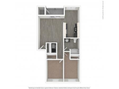 2 Bedroom Floor Plan | Apartments For Rent In Kennewick, WA | Heatherstone Apartments