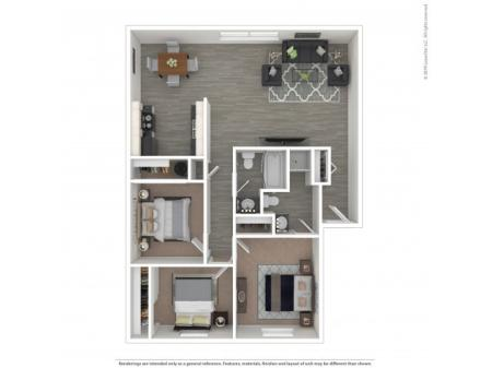 3 Bedroom Floor Plan | Apartments For Rent In Kennewick, WA | Heatherstone Apartments