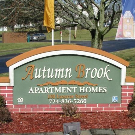 Autumn Brook Apartments Sign