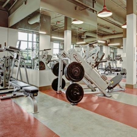 Resident Fitness Center | Dupont Wa Apartments For Rent | Trax at DuPont Station