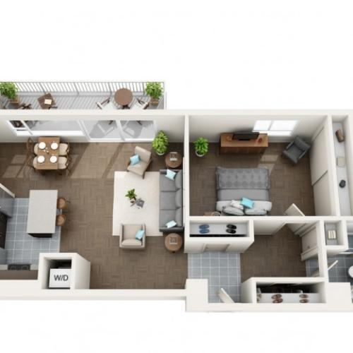 1 Bedroom Floor Plan | Apartments For Rent In Seattle, WA | Panorama Apartments