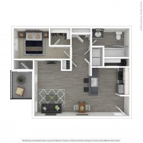 1 Bdrm Floor Plan | Apartments Lacey Wa | The Marq on Martin
