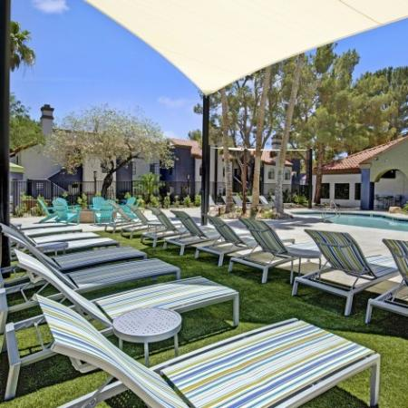 Lounge Seating at Pool Deck with Awning