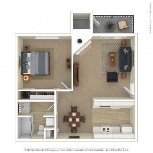 Alder One Bedroom Apartment
