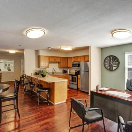 Resident Lounge and Leasing Office     Apartments In Charlottesville VA   Mallside Forest