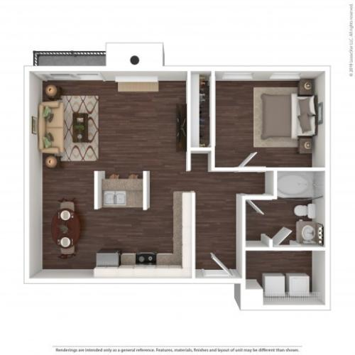 1 Bdrm Floor Plan | 2 Bedroom Apartments In Aurora Co | The Grove at City Center