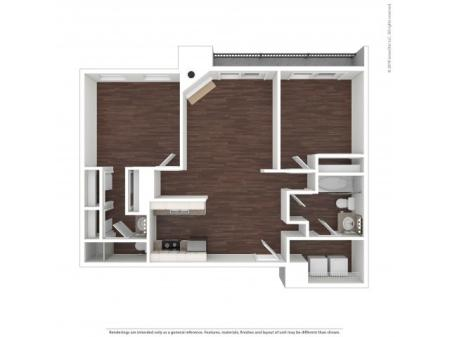 2 Bedroom Floor Plan   Apartments In Aurora Colorado   The Grove at City Center