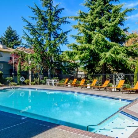 Resort Style Pool | Apartments Kirkland WA | The Emerson