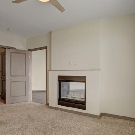 Classic Finish with carpet in Living and Bedroom Spaces