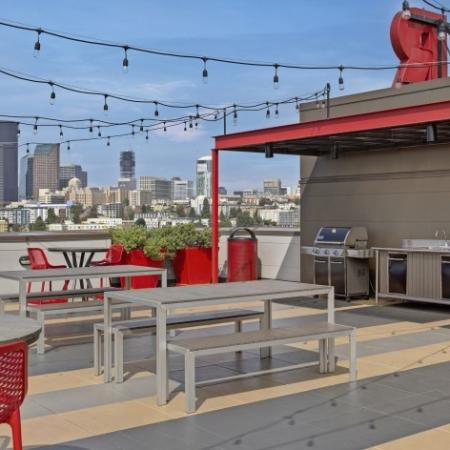 BBQ Area and Picnic Area and more on the Rooftop Deck