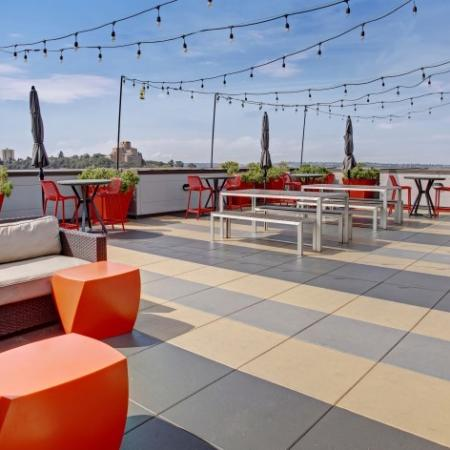 Ample amount of Seating on the Rooftop Deck