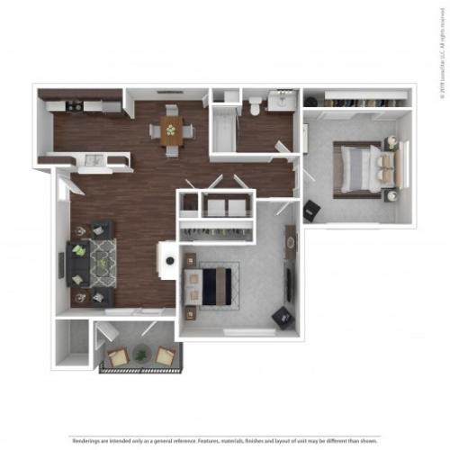 2 Bedroom Floor Plan | Apartments For Rent In Bremerton, WA | Insignia Apartment Homes
