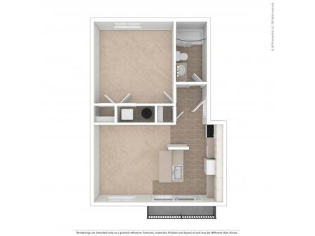 1 Bedroom Floor Plan | Apartments For Rent In Kirkland, WA | Emerson Apartments