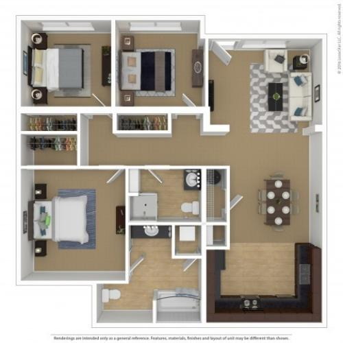 Floor Plan 4 | Portland Oregon Apartments Pet Friendly | Element 170