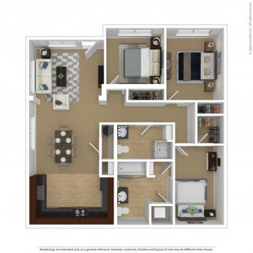Floor Plan 5 | Portland Oregon Apartments Pet Friendly | Element 170