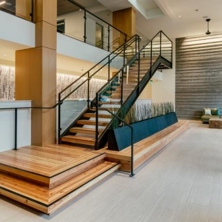 Lobby with Mail Room and Package Concierge System | Augusta Apartments | Seattle Apartments for Rent
