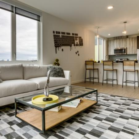 Spacious Living Room  | Augusta Apartments | Seattle Washington Apartments