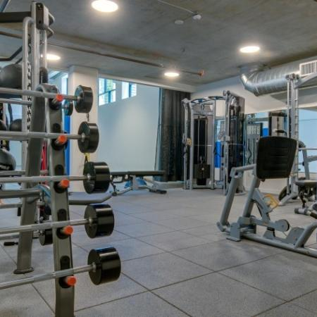 State-of-the-Art Fitness Center with Free Weights | Augusta Apartments | Seattle Washington Apartments