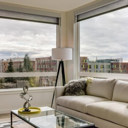 Large Double Pane Windows with City and Lake Views | Augusta Apartments | Seattle Apartments for Rent