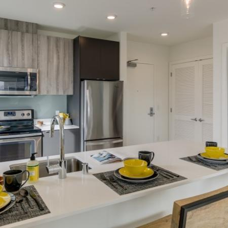 Spacious Kitchen with Eat-In Bar | Augusta Apartments | Seattle Apartments for Rent