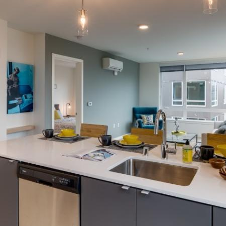 Modern Kitchen with Stainless Steel Appliances | Augusta Apartments | Apartments in Seattle