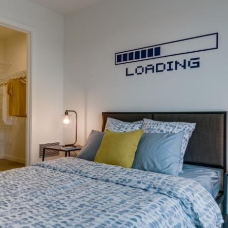 Bedroom with Walk-In Closet | Augusta Apartments | University District apartments