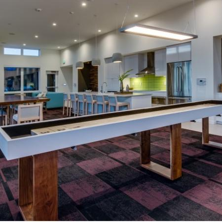 Club Room with Shuffle Board | Augusta Apartments | Seattle Apartments for Rent