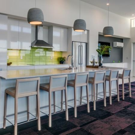 Club Room with Open Kitchen | Augusta Apartments | Apartments in Seattle