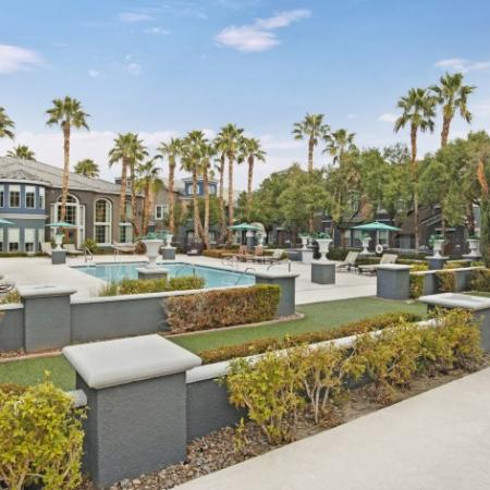 Beautifully Landscaped Grounds | Pet Friendly Apartments In Henderson NV | Verona