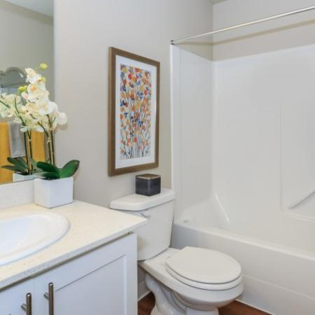 Light, Airy Bathroom | Outlook at Pilot Butte Apartments | Apartments For Rent Bend Oregon