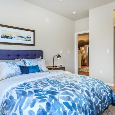 Elegant Bedroom and Bathroom | Outlook at Pilot Butte Apartments | Apartments Bend Oregon