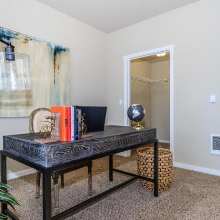 Living Space with Closet Storage Space | Outlook at Pilot Butte Apartments | Apartments Bend Oregon