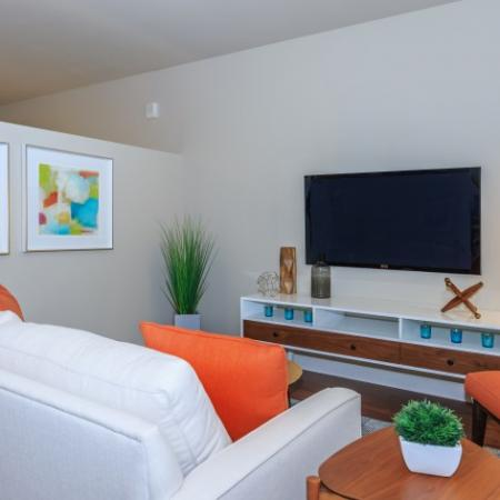 Tastefully Decorated Living Room | Outlook at Pilot Butte Apartments | Apartments For Rent Bend Oregon