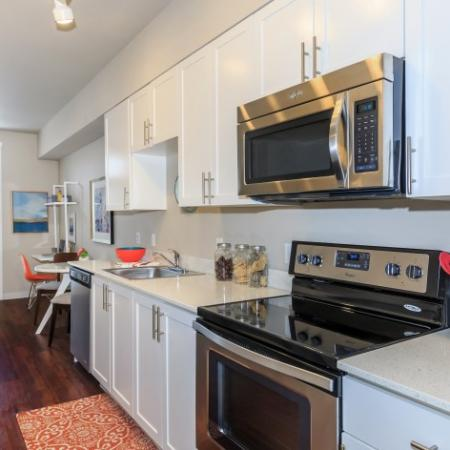 Galley-Style Kitchen | Outlook at Pilot Butte Apartments | Bend Oregon Apartments
