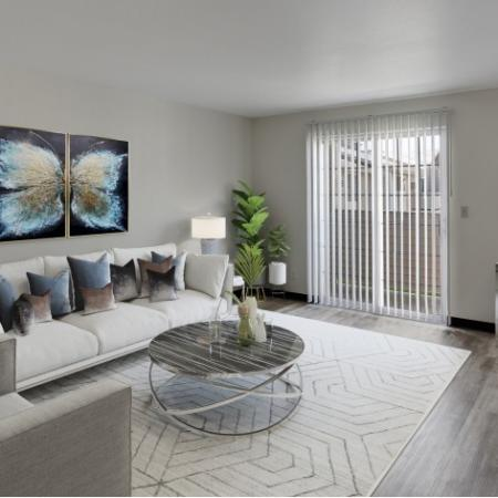 Living Room Newly Renovated at Heatherstone Apartments