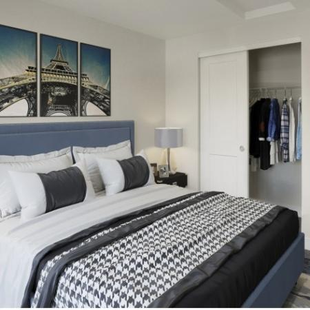 Bedroom with Carpet and Closet Space