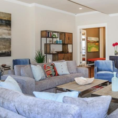 Comfortable Seating in Community Area | Outlook at Pilot Butte Apartments | Bend Oregon Apartments