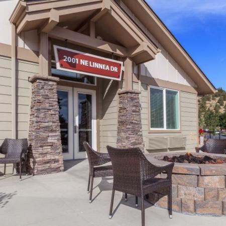 Community Fire Pit | Outlook at Pilot Butte Apartments | Apartments Bend Oregon